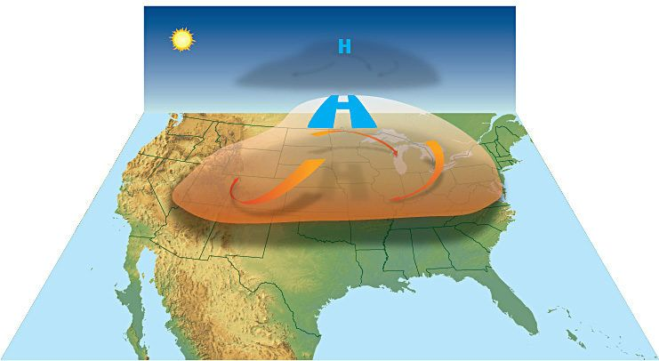 A Heat Dome forms in the upper atmosphere. Credit: NOAA